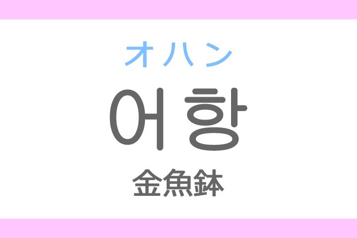 어항(オハン)の意味「金魚鉢(きんぎょばち)」ハングル読み方・発音