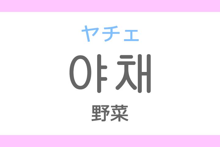 야채(ヤチェ)の意味「野菜(やさい)」ハングル読み方・発音