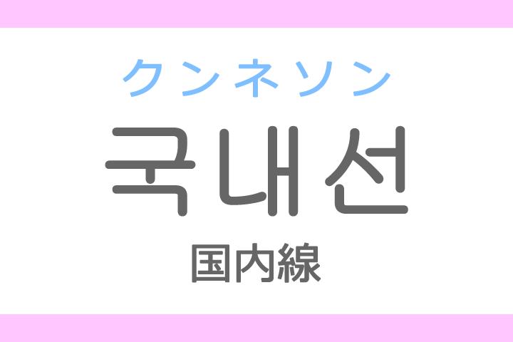 국내선(クンネソン)の意味「国内線(こくないせん)」ハングル読み方・発音