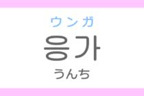 응가(ウンガ)の意味「うんち」ハングル読み方・発音